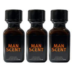 Man Scent Leather Cleaner Poppers - 24ml - 3 Pack