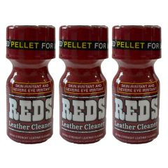 Reds Extra Strength Leather Cleaner Poppers - 10ml - 3 Pack