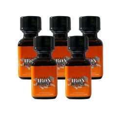 Iron Horse Leather Cleaner Poppers - 24ml - 5 Pack